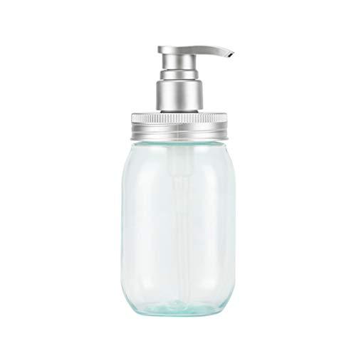 Hemoton 450 Ml Distributeur de Savon Bouteilles en Plastique Pompe Rechargeables Bouteilles Vides pour Savon Liquide Shampooing Lotions Distributeurs de Main Cuisine Bain Bleu