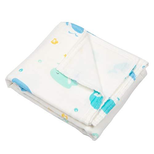 Iris Baby mousselindeken van 100% katoen, 70 x 120 cm, 4 lagen mosselin, multifunctioneel, babydeken voor wieg, kinderwagen met Oeko-Tex, premium kwaliteit, Italiaanse kwaliteit Balene