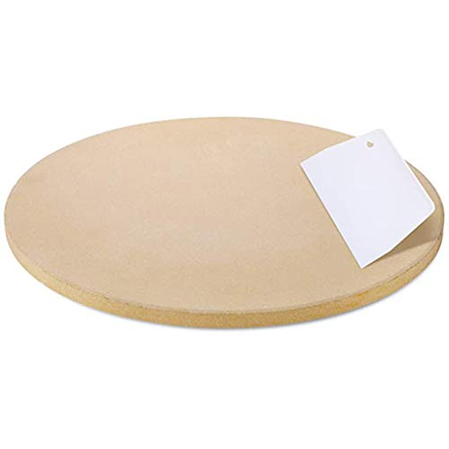 WJLED Pizza Stone for Best Crispy Crust Pizza,10Inch Round Pizza Grilling Stone Baking Stone Small Cooking Stone for Oven Perfect Size for Personal Pizza Bread Cookies