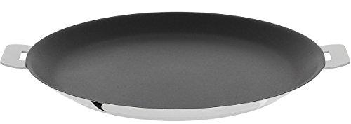 "Cristel Mutine Crepe pan, 12"", Silver"
