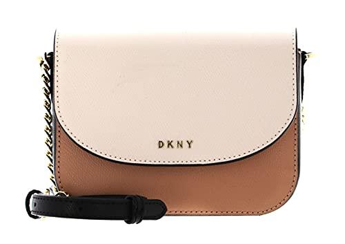 DKNY Felicia Flap Crossbody Bag Vachetta/Ivory/Black