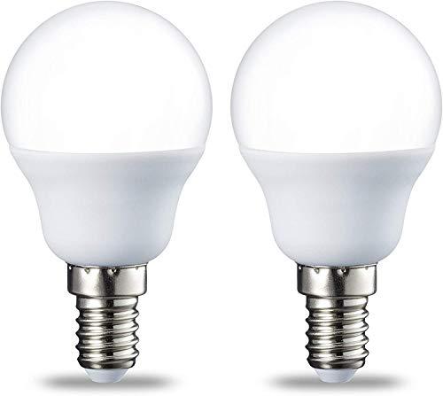 Amazon Basics Petite ampoule LED E14 P45 type globe, avec culot à vis, 5.5W (équivalent ampoule incandescente de 40W), blanc chaud - Lot de 2