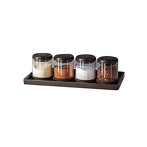 Kruidendoos Glass Seizoensopslagcontainers,Kleur:Bruin,Geschikt voor het opslaan van verschillende specerijen in de…