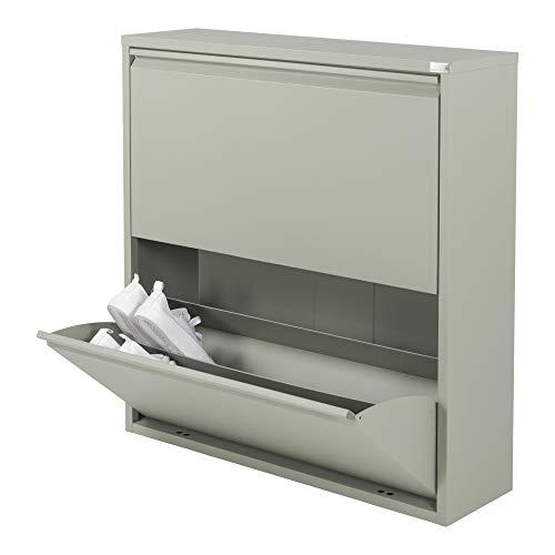 Spinder Design Billy 2 Schuhschrank mit 2 Fächern 75x22.5x75 - Olivgrün