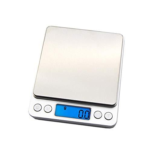 NUEVO 500/0.01g 3000g / 0.1g LCD portátil Mini balanzas digitales electrónicas Estuche de bolsillo Joyería de cocina postal Balanza de peso 500g 0.01g