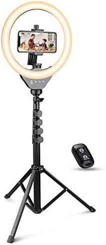 UBeesize 10 Ring Light with Tripod Selfie Ring Light with 62 Tripod Stand Light Ring for Video product image