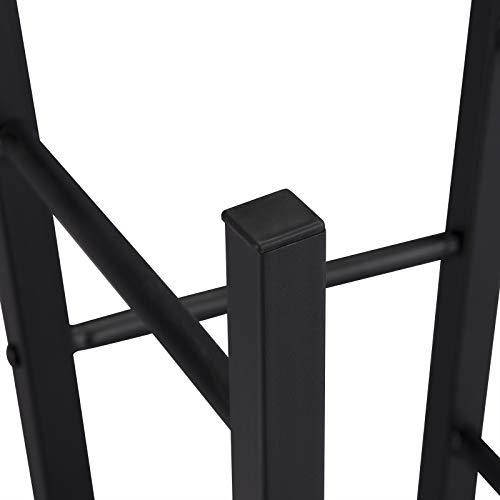 WOLTU BH130dc-2 2X Barhocker Bistrohocker Tresenhocker Barstuhl, Gestell aus stabilem Stahl, Stizfläche aus MDF, Dunkelbuche - 7