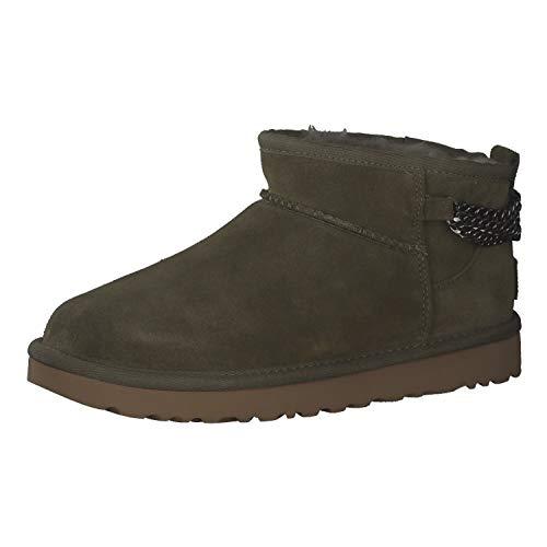 UGG Damen Boots Classic Ultra Mini Chains 1117933 Olive 38