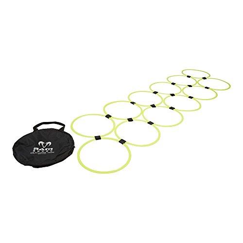 Ram Rugby – Abilità Scaletta Hoops – 12 cerchi in plastica con chiusura in velcro – forniti in borsa per il trasporto
