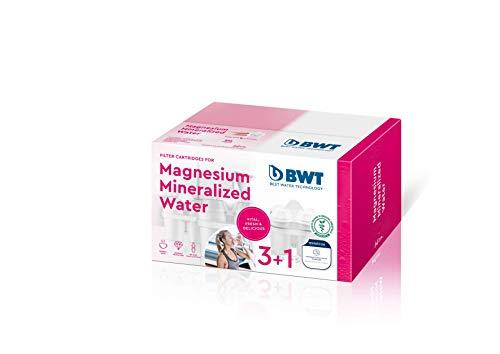 BWT Magnesium Mineralizer Filter mit patentierter Technologie Pack 3+ 1, Kunststoff, weiß, 20.9x 12.3x 12.4cm