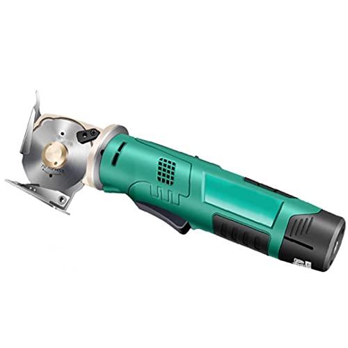 Función eléctrica tijeras sin cable verde de la tela redonda máquina de mano automático de afilado para el paño de cuero textiles, herramientas eléctricas
