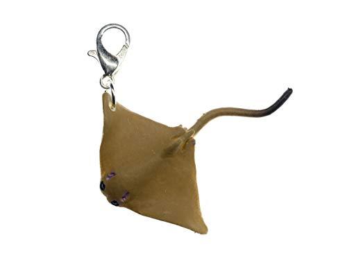 Miniblings Rochen Charm 37mm Gummi Tauchen Skuba Fisch - Handmade Modeschmuck I Kettenanhänger versilbert - Bettelanhänger Bettelarmband - Anhänger für Armband