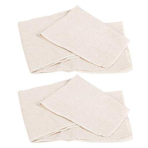 Hemoton 2 Stks Katoenen Bakdoek Brood Proofing Doek Non-Stick Katoenen Doek Voor Keuken Zelfgemaakte Bakken Fermentatie Baguette Broden Deeg (S Maat)