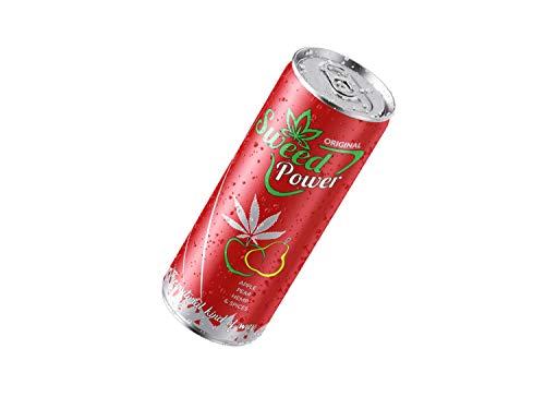 Natuurlijke hennepdrank Sweed Power | Power Drink - Made in Austria | Perenappelhennep | zonder taurine en cafeïne. 24 dienblad
