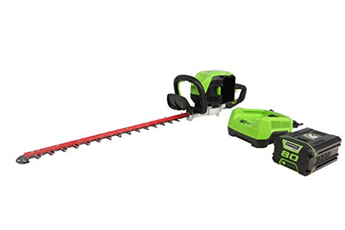 "Greenworks Pro 80V 26"" Brushless Hedge Trimmer (1.2"" Cutting Capacity), 2Ah Battery and Rapid Charger Included HT80L211"