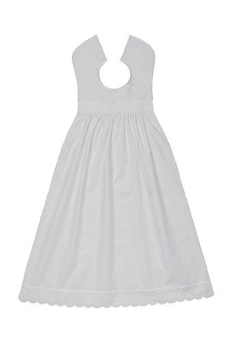 Bateo Design Baby Taufaufleger Baumwolle Bestickt in Schriftfarbe Weiß