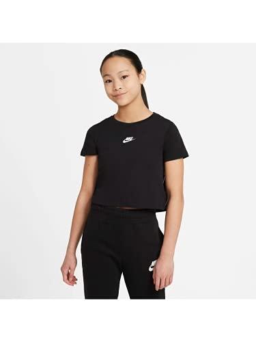 NIKE G NSW Repeat Cross tee Camiseta, Negro/Blanco, M niña