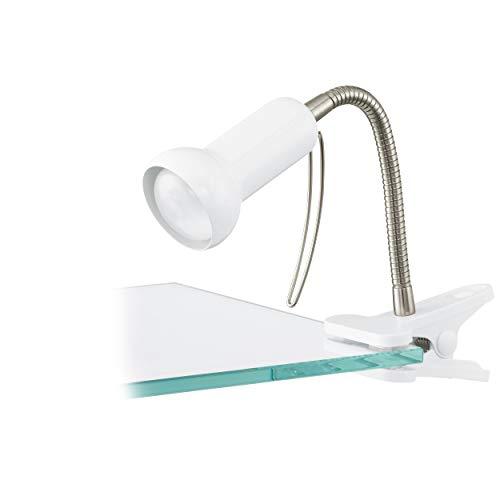 Eglo Lampe de Bureau à Pince Fabio - E14 - Blanc