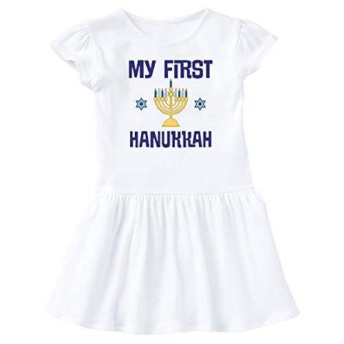 inktastic My First Hanukkah Celebration Outfit Infant Dress 6 Months White 3c816