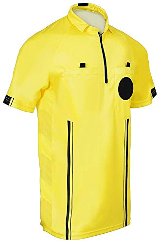New! 2018 Soccer Referee Jersey (2018 Yellow, Adult Large)