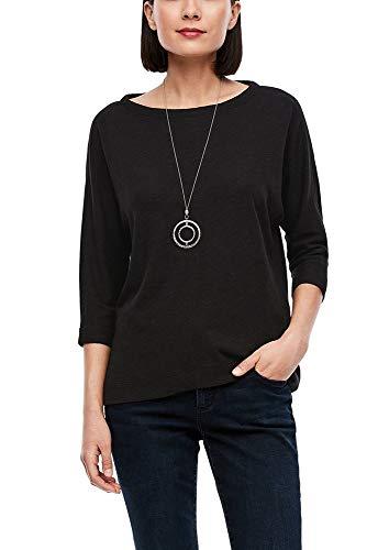 s.Oliver Damen T-Shirt 3/4 Arm black 40