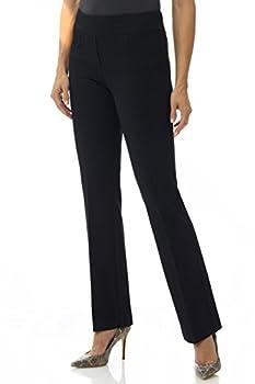 Rekucci Women s Secret Figure Pull-On Knit Bootcut Pant w/Tummy Control  6 Short Black