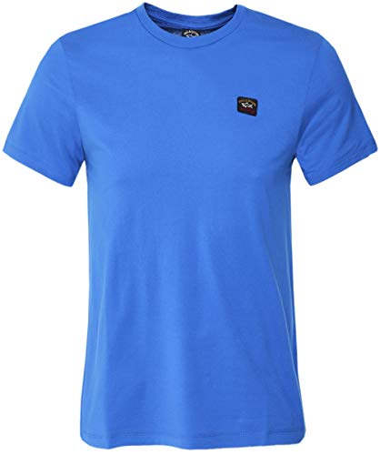 Paul and Shark Men's Crew Neck Cotton T-Shirt Blue L