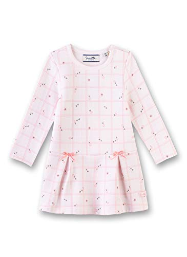 Sanetta Baby-Mädchen Dress Kleid, Rosa (Hellrosa 3075), 68 (Herstellergröße: 068)