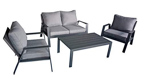 Garden Pleasure Gartenmöbel Lounge-Set Victoria, 4-teilig, Anthrazit Beige