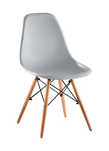 SuperStudio Wooden - Set di 2 sedie di design, Colore Grigio, 81.5 x 47 x 53.5 cm