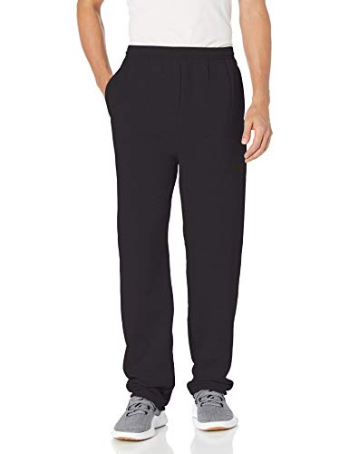 Hanes mens EcoSmart Fleece Sweatpant with Pocket black L