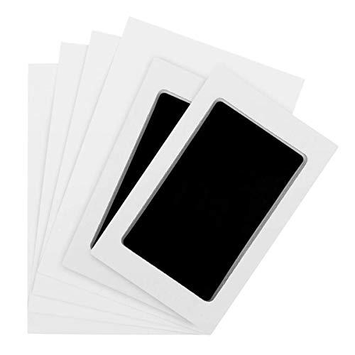 Baby Handabdruck und Fußabdruck Inkless Pad Kits, Richaa 2 Pcs sicher und ungiftig Stempelkissen für Neugeborene Geburt Rekord Säuglingsdusche Geburtstagsgeschenk (schwarz)