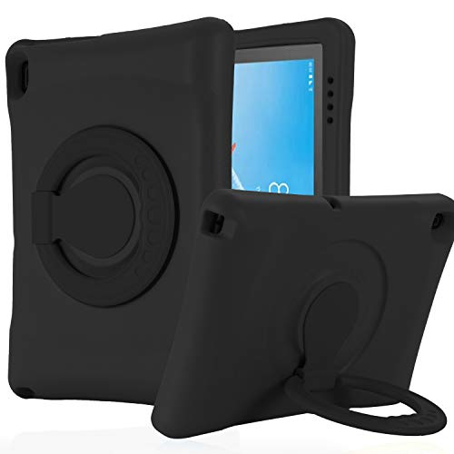 KAVON Case for Lenovo Tab E10 TB-X104F 2019 10.1 Inch , EVA Shockproof Convertible Handle Stand Protective Cover, Lightweight Tablet Case for Kids 10.1 Inch (Black)
