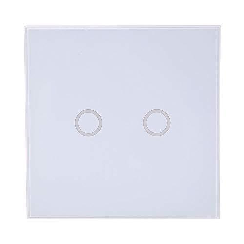 Interruptor de luz de pared NEO Coolcam Z-wave 2CH Gang Z Wave Control remoto inteligente inalámbrico Interruptor de luz de la UE Automatización del hogar