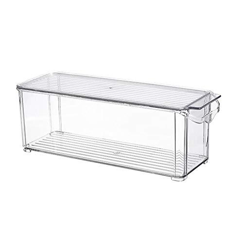 ROSEBEAR Kylskåp matförvaringslåda plast matbehållare med lock för kök skafferi skåp (smalt L)