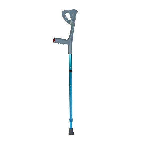 Lightweight Foldable Forearm Crutch, Aluminum Walking Stick,Height Adjustable, Ergonomic Handle with Comfortable Grip 2ZG-0IGM (Blue)