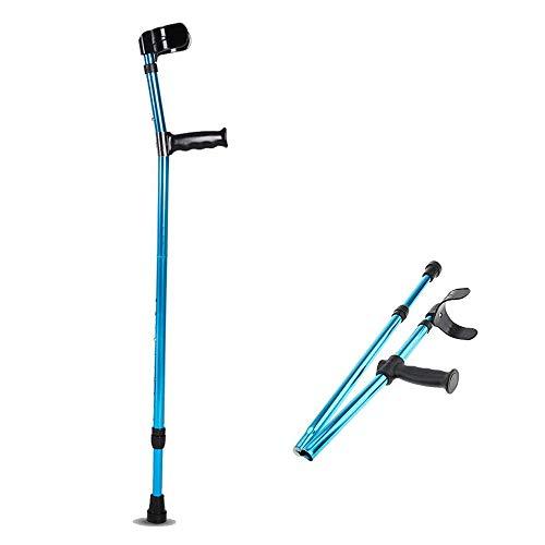 WANGXIAOLINshouzhang Ajustable Caminar plegamiento del Metal de caña Codo Bastón for los jóvenes y Ancianos, portátil, Ligero y Estable de Super Piernas Antebrazo Muletas de Apoyo Palo después de una