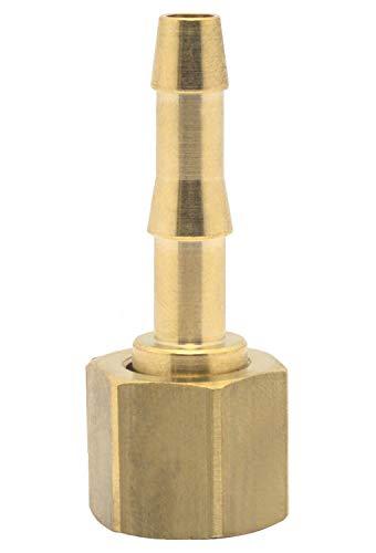 Elmag 42362 Druckluft-Schlauchtülle mit Überwurfmutter | Innengewinde 1/4 Zoll | für 9mm Schlauch