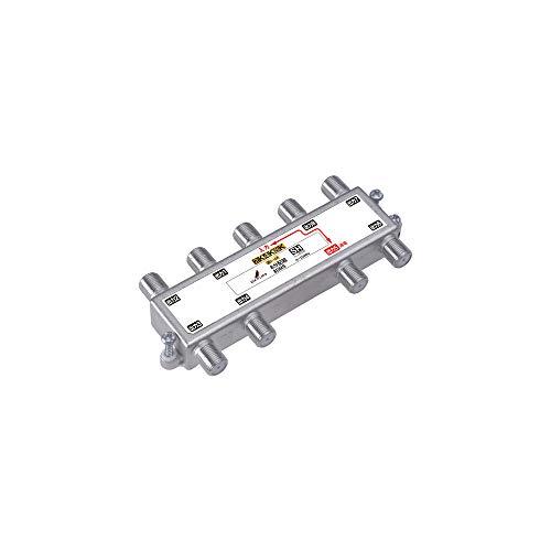 DXアンテナ 分配器 8分配 1端子通電形 金メッキプラグ F型端子 ダイカスト製高シールド構造 8DM