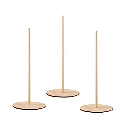 Amosfun 3pcs Holz Donut Ständerstange aus Holz Donut Bagels Ausstellungsstandhalter für Hochzeit Geburtstagsgeschenk Parteien