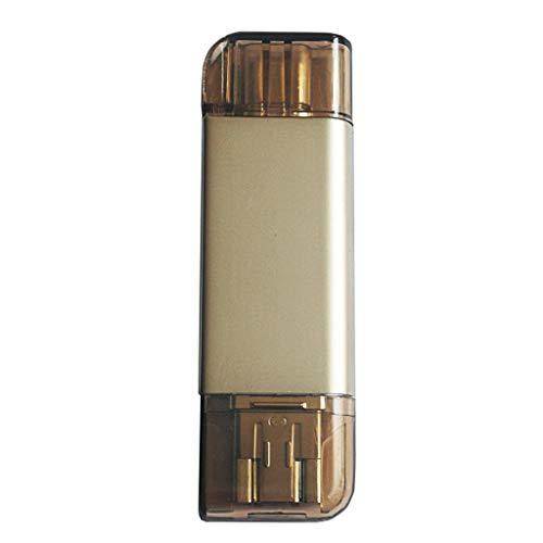 MagiDeal Lector de Tarjetas de Memoria SD TF Adaptador USB OTG para Teléfono Universal 3 en 1 - Oro