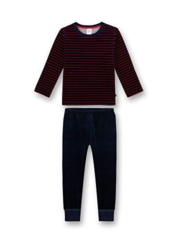 Sanetta Jungen Nicki-Schlafanzug, dunkelblau-rot gestreift 232520 gr.128