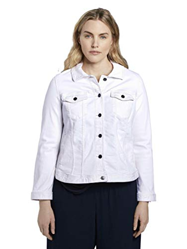 TOM TAILOR MY TRUE ME Damen Jacken Farbige Jeansjacke White,44,20000,2000