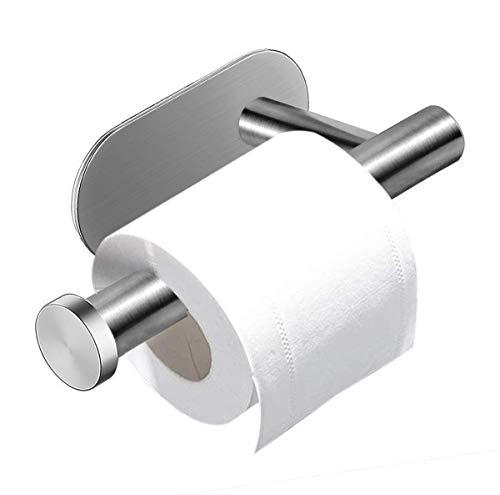 Kissral Porta Carta Igienica, Portarotolo Bagno Autoadesivo Acciaio Inossidabile Porta Rotoli Carta Igienica Adesivo per Bagno e Toilette per Cucina e Bagno
