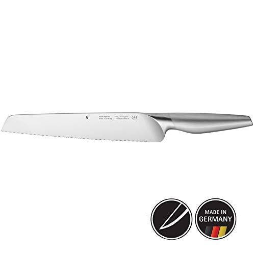 WMF Chef's Edition Brotmesser Doppelwellenschliff 37 cm, Mehrzweckmesser, Spezialklingenstahl, Messer geschmiedet, Performance Cut, Holzkassette, Klinge 24 cm