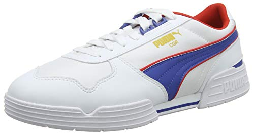 PUMA CGR OG, Zapatillas Unisex Adulto, White-Galaxy Blue-High Risk Red, 38 EU