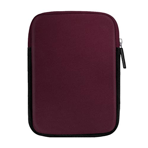 Moko 6 Inch Kindle Sleeve Hülle Kompatibel mit All-New Kindle 10. Genreation 2019/Kindle Paperwhite, Schutzhülle Tasche für Kindle Voyage/Kindle Paperewhite 10. 2018/Kindle Oasis 6' E-reader, Rot Wein