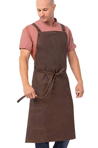 Chef Works Men's Denver Chefs Cross-Back Bib Apron