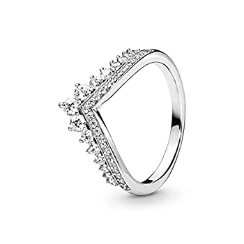 Pandora Jewelry Princess Wish Cubic Zirconia Ring in Sterling Silver Size 7
