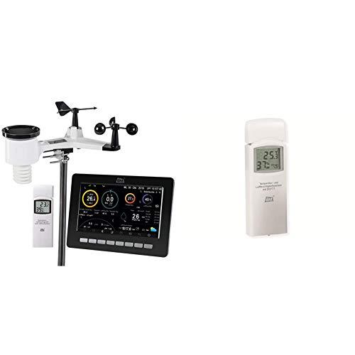 dnt WiFi-Wetterstation WeatherScreen PRO + Zusatz-Thermo-/Hygrosensor